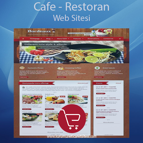 Kafe Restaurant Web Sitesi