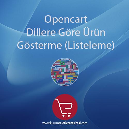 Opencart Dillere Göre Ürün Listeleme Modülü