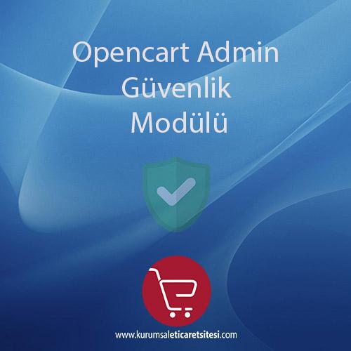 Opencart Admin Güvenlik Modulu