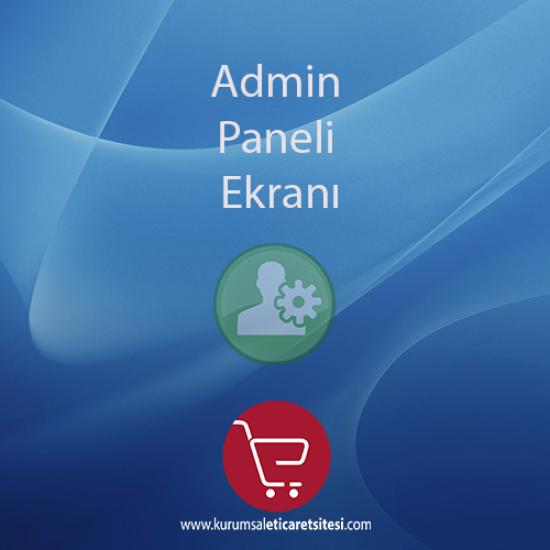Opencart Admin Paneli Ekranı