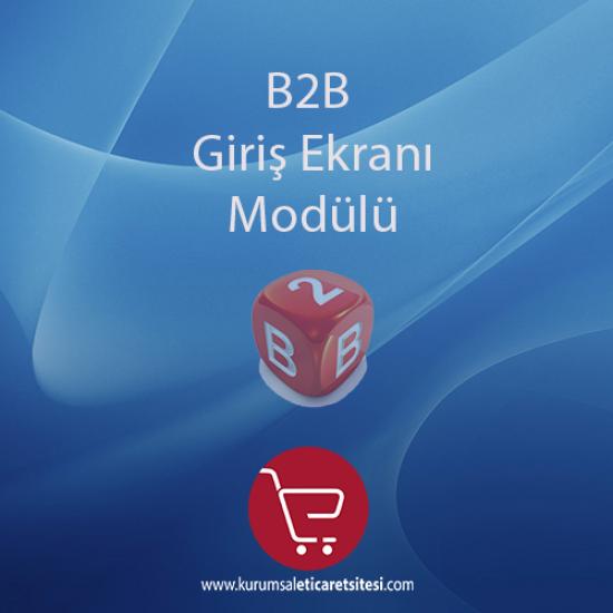 Opencart B2B Giriş Ekranı Modulu