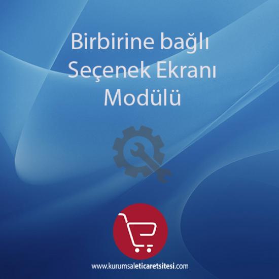 Opencart Birbirine Bağlı Seçenek Modülü