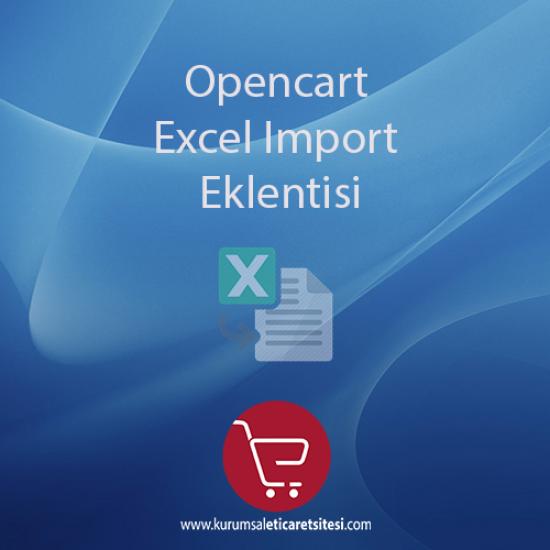 Opencart Universal Excel/İmport Eklentisi