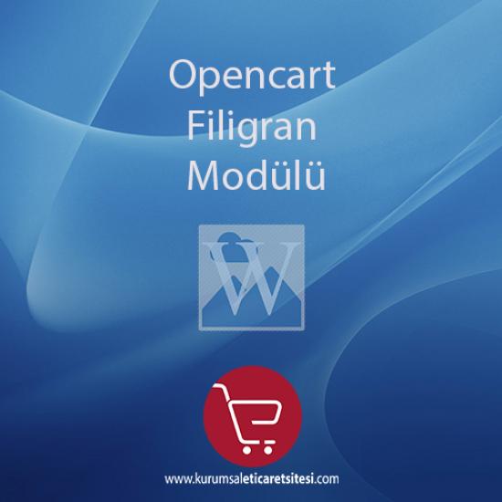 Opencart Filigran Modülü