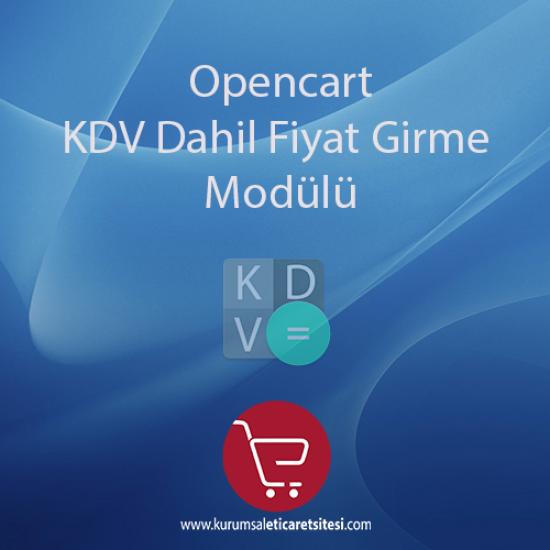 Opencart KDV Dahil Fiyat Girme Modulu