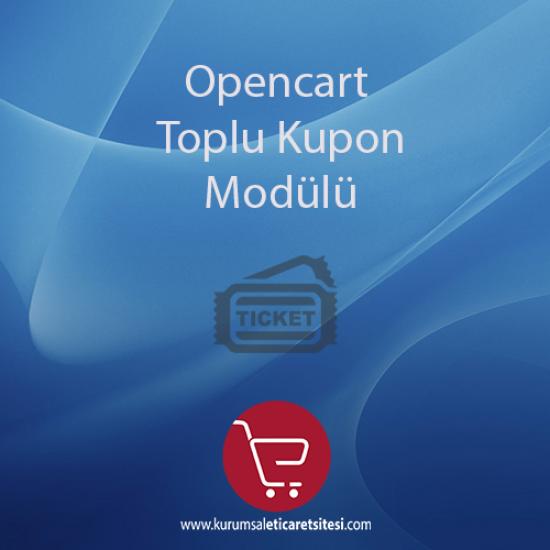 Opencart Toplu Kupon Modulu
