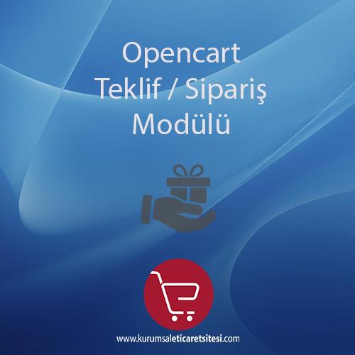Opencart Teklif ve Sipariş Modülü