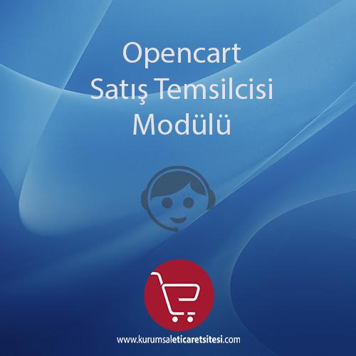 Opencart Satış Temsilcisi Modülü