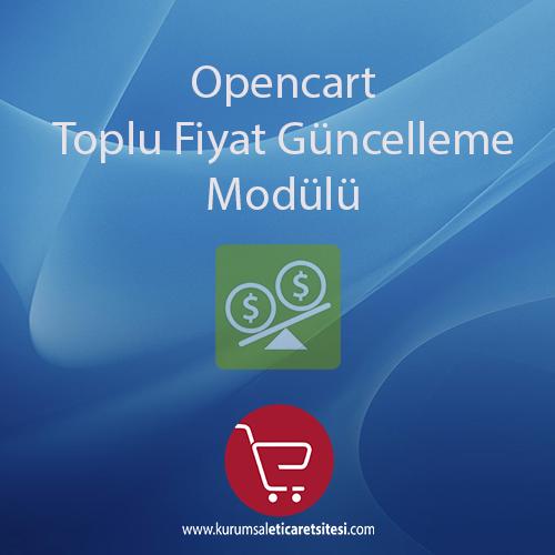Opencart Toplu Fiyat Güncelleme Modülü